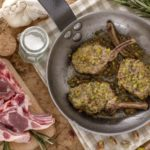 Costolette di agnello in crosta di pistacchi